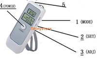 Wholesale 50pcs hot Digital Breathalyzer Alcohol Tester and Timer Dual LCD Display portable useful