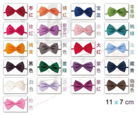 Wholesale HOT CHILDREN S SOLID COLOR BOW TIES MIXED COLOR DROPSHIPPING