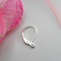 Wholesale DIY jewelry accessories ear wire hook ear clasps earring clips K silver white COLOR x10mm
