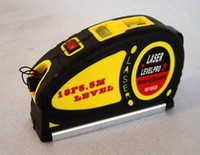 Wholesale New LASER LEVEL HORIZONTAL VERTICAL LINE M MEASURE TAPE BV076 CF