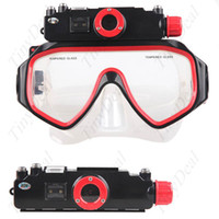 Wholesale 5MP CMOS sensor M Waterproof Diving Mask Digital Video Camera