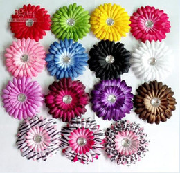 Wholesale 200pcs high quality the daisies Gerber baby hair bows Children s clip girl flowers Boutique SDER