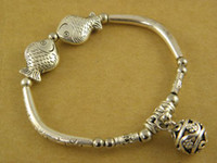 Wholesale Cheap Exquisite Fish Tibetan Silver Charms Bracelets Xmas Presents Stock Best Quality