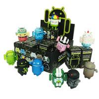 Wholesale 16 Google Android ND Robot Toy Mini Collectible Series Robot box set Vinyl Figures