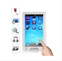 Wholesale Inch Touch screen Ebook Reader GB with MP3 MP4 FM radio Digital photo frame function
