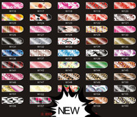 Wholesale NEW DESIGNs Nail Art Wraps Sticker Minx Metallic Patch Foil Applique Decoration