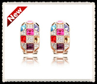 Wholesale Luxurious Crystal earrings with Austrian Crystal Earrings Queen Long earrings