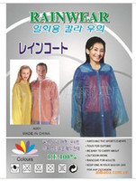 Wholesale Rainwear PE raincoat Adult disposable raincoats long coat