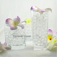 Wholesale packs CLEAR Crystal Jello table decor Wedding Party Centerpiece Decoration