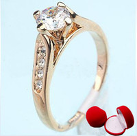 Wholesale Lovers ring Christmas Gift Rings layer K gold plated CZdiamond Rhinestone finger ring jewe