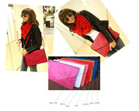 Wholesale Envelope Clutch Purse Messenger Handbag Shoulder Bag PU leather hot large oblong flat