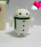 Wholesale Google Android Snow ManToy Fashion Light Android Snow Man Doll Xmas Gift