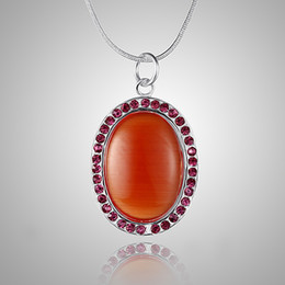 New gift for Xmas gift 925 Silver jewelry Red Opal dotted with Crystal Gemstone Necklace 18inch