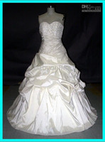 2010 wedding dresses - 2010 Sweetheart court train wedding dress Beeding ball gown Lace Full Refund Guarantee