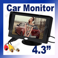 Wholesale 4 quot TFT LCD Car Monitor Reverse Rearview Color Camera DVD VCR CCTV Black