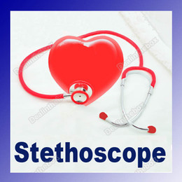 Wholesale Red Double Dual Head Stethoscope Clinical Chrome Plated ULTRA SENSITIVE