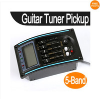 Wholesale 5 piece Acoustic Guitar Preamp Band EQ Equalizer Pickup Tuner