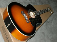 Wholesale Jumbo Acoustic Guitar in Vintage Sunburst Guitar FREE SHIIPPING