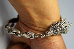 Rare Cheap Chinese Old Tibet- Silver Handwork Phoneix Bracelet   1PCS
