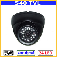 Wholesale 540TVL Vandalproof CCTV IR Day amp night Metal dome Video CCD Camera CC From COSMOCCTV