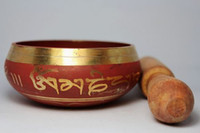 Wholesale Rare Cheap Chinese Old Tibet Copper Handwork Painting Sing Bowl