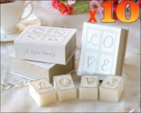 Wholesale Book of Love Scented Candle Set Wedding Party Favors Unique Valentines Gifts