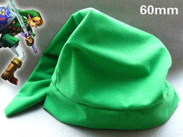 Wholesale Legend of Zelda Link Cosplay Green Hat zelda hat green hat hats cartoon hats CM Length