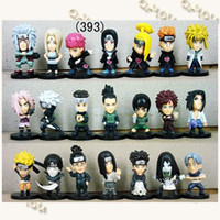 Wholesale 21 styles Naruto Anime Figures Dolls Toys Cartoon Doll Model Figure Ornaments
