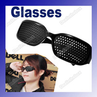 Black eye glasses - Unisex Eyesight Vision Improve Pinhole Glasses Eyes Exercise Brand