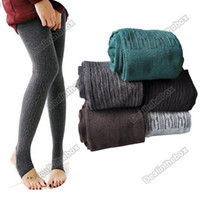 Wholesale Comfortable Women Cotton Tights Pants Leggings Stirrup Winter Warm Colors