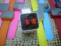 Wholesale Luxury LED Watch Digital Display Jelly Silicone Sport watch Unisex watch Mirror quartz Watches