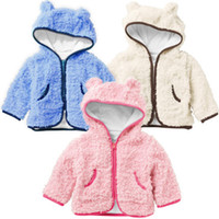 2T-3T baby fleece outfits - baby coat outfits Girls coats boy jackets hoodies fleece outerwear kids surcoats Cardigan tops SH405