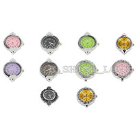 Wholesale Mixed Silver Ornate Colourful Round Watch Faces w fmix9