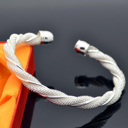 5pcs lot Free Shipping bracelets fashion 925 silver plated bangles fashion