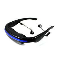 Wholesale Newly inch Video glasses mobile theatre AV in function connectable with mp4 Free shi