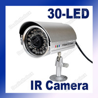 Wholesale 30 LED Color CCTV IR Night Vision Digital CMOS Video Camera Silver White Adeal