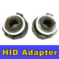 al por mayor los titulares de bombilla hid h7-10 PARES (2 piezas de par) H7 HID adaptador del bulbo portador de conectadores 4 NEGRO SERIE 3 E46 E65 E90 318i 1998-2004