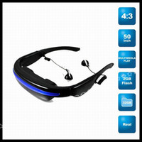 Wholesale 50 inch Virtual Screen Bulit in Gb Memory Cinema Eyewear Mobile Theatre Video Glasses Kianorist