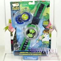 Limited Edition ben child - 20sets Ben OMNITRIX ILLUMINATOR Projector Watch wristwatch children Xmas gift EMS