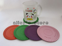 Wholesale Quantum Science Scalar Energy Coaster sets set silicon cup coaster with ions
