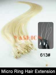 Wholesale 613 g s inch s Blonde Micro ring bead loop human hair extension Cheap Price