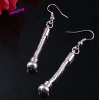 Silver Mexican Women's Wholesale - Silver biagi dangle earrings troll pretty beads DIY 12 pairs New 925 sterling