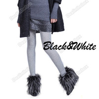 Wholesale Christmas x cm Women Faux Fur Lower Leg Shoes Ankle Warmer Boot Sleeves Cover multi colors