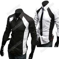 Wholesale 2012 Fashion New Mens Casual Luxury Stylish Slim Long Sleeve Shirts
