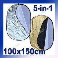 Wholesale 100x150cm quot x quot in Outdoor Light Mulit Collapsible Oval Reflector Photography