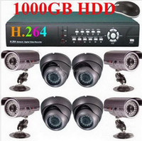 Wholesale Best Selling H CH IR CCD Cameras TB Net DVR CCTV Security System egomall H944