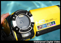 Yellow / Gold batteries definition - Professional Waterproof camera digital with mp and inch tft screen High definition
