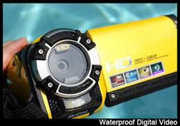Profesional impermeable cámara digital con 16mp y 3,0 pulgadas tft pantalla de alta definición