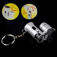 Wholesale Brand new X Mini Pocket Microscope Jeweler Magnifier LED Loupe Eye