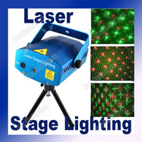 Voice-activated Green USA plug (has EU Adapter) Mini Green & Red Color Laser Stage Light DJs Party Blue 110V~240V 50~60HZ Adeal #1326